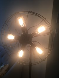 Antique fan floor lamp with light bulbs  Washington, 20008