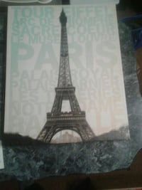black and gray Eiffel Tower painting Reno, 89503