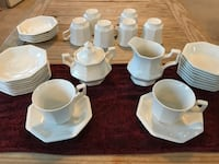 white ceramic mugs and saucers Woodbridge, 22192