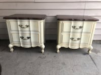 Solid Wood Matching French Provincial Nightstands