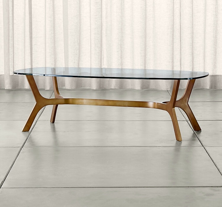 Merveilleux Crate U0026 Barrel   Elke Glass Coffee Table