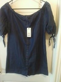 New! Denim off shoulder dress - Medium Brampton, L6P