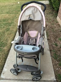 Pink and gray Chicco stroller Leander, 78641