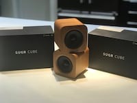 Sugr Cube Minimalist Wi-Fi Speaker with Amazon Alexa, Spotify Connect and Touch Control,Cherry Wood Chicago, 60618