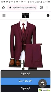 Mens party suits