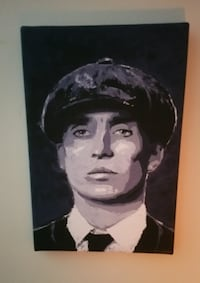 Peaky Blinder Tom Shelby Canvas by artist David Byrne Worcestershire
