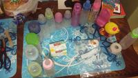 assorted feeding bottles