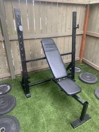 Olyimpic Weight Bench/ Squat Rack