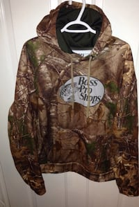 Realtree Bass Pro Shops Pullover Camo Hoodie Size XL