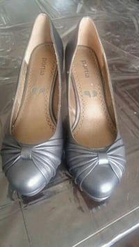 pair of gray leather flats London, N6L 0B2