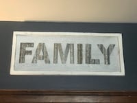 FAMILY wood sign Toronto, M4C 1V5