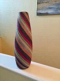 Red blue yellow striped vase, gorgeous in any type of decor  Centennial, 80122