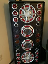 black and red Pioneer subwoofer Des Moines, 50320