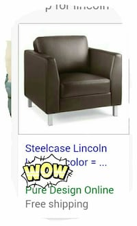 black leather Lincoln  armchair with steel case De Soto, 31743