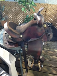 Western Rawhide Genuine Leather Saddle