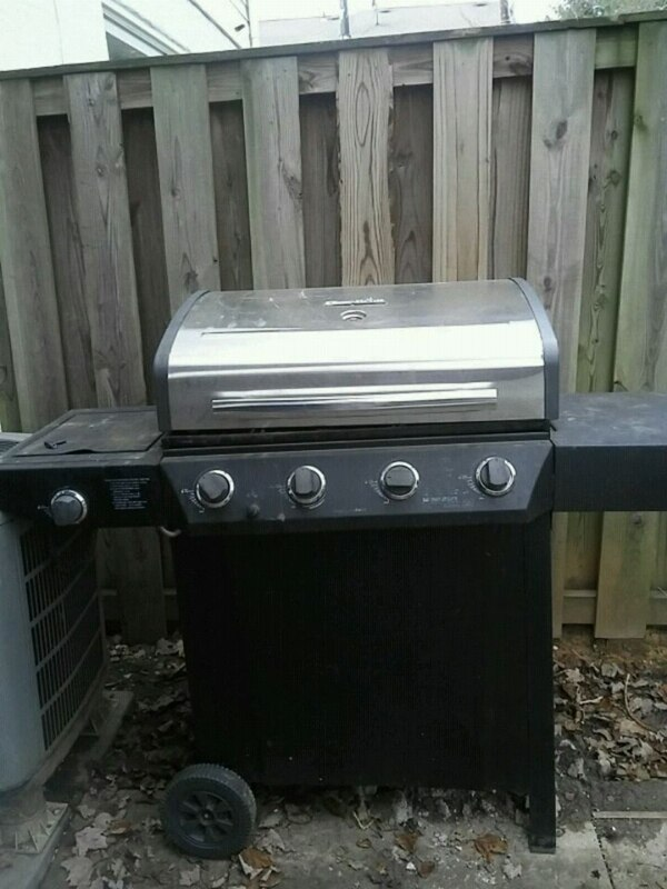 Gas converted to charcoal grill