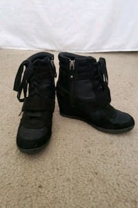 Wedged boots. Women's size 6.