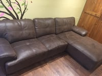 brown leather sectional sofa with ottoman Nederland, 80466