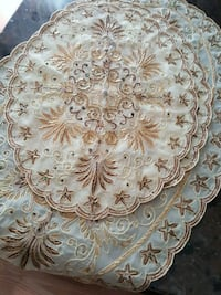 white and brown floral textile Surrey, V3R 5X9