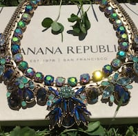 green and blue beaded necklace Brampton, L7A 2C7