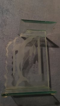 Clear glass dolphin stand retail 50 Boca Raton