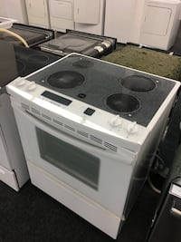 white and black induction range oven Toronto, M3J