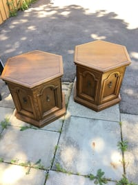 Two brown wooden side tables Mississauga, L5J 3X2