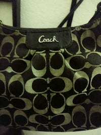 black and gray Coach monogram shoulder bag Sacramento, 95834