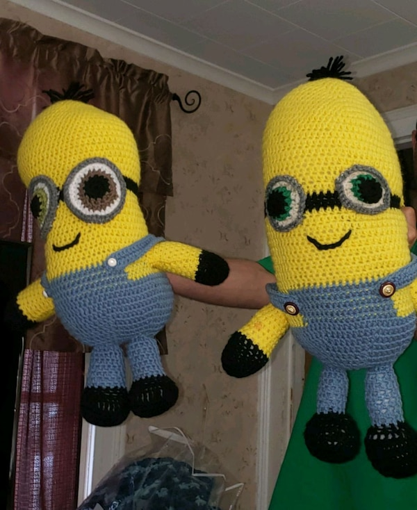 Hand made crocheted minions 2 available  a1336ee8-8452-4340-998c-3f6c27174931