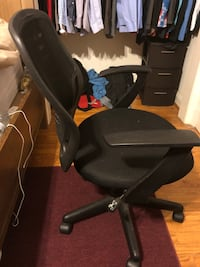 black padded seat office rolling chair Catonsville, 21228