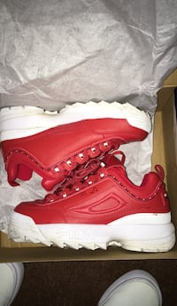 Pair of red nike air max shoes with box Tallahassee, 32301