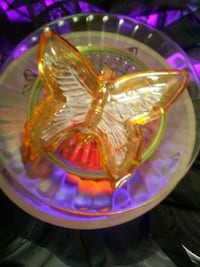 New not used Antique Glass Butterfly Vaseline Lamp Phoenix, 85018