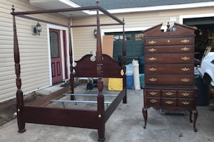 Canopy bed and highboy