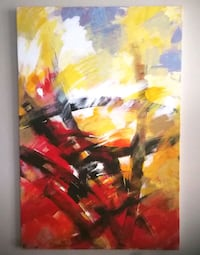 Original Abstract painting New Westminster, V3M 1M4