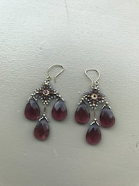 Miguel Ases 14K gold filled Amethyst triple drop New York, 11249