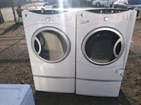 Front load steam washer and dryer with pedestals works great Prince George's County, 20746