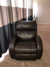 Black leather recliner sofa chair Winter Haven, 33880