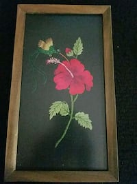 Red flower and Hummingbird painting Woodbridge, 22192