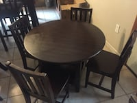 Kids Round brown round wooden table with 4 chairs  Turlock, 95380