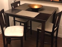 rectangular black wooden table with four chairs dining set 3750 km