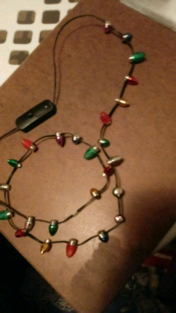 Christmas Light Necklace.Christmas Light Necklace