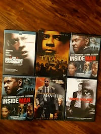 6 dvds as per pic. Used in excellent condition.  P Newmarket, L3Y 8R1