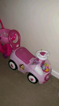 Princess ride and push car