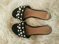 pair of black-and-white leather sandals Portland, 97215