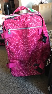 pink and purple soft side luggage 哥伦布, 43228