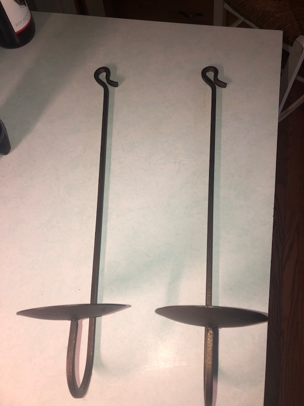 Used Black Metal Base White Shade Floor Lamp For Sale In