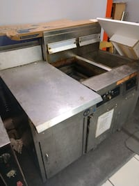Commercial Frymaster Grill, Prep Table, and Deep Fryer