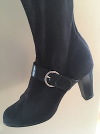 Pair of black Soft  skin boots size 9