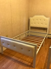 furniture sale> new in box twin metal bed we finance no credit needed visit us  Johnston