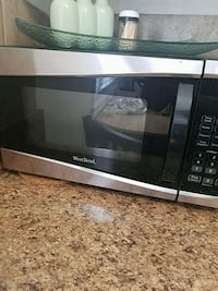 black and gray Emerson microwave oven Yucaipa, 92399